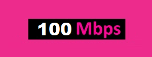 TIME fibre broadband 100Mbps