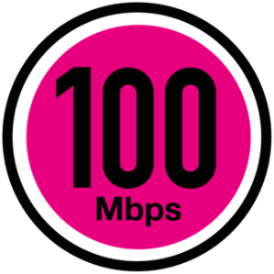 100Mbps time fibre broadband