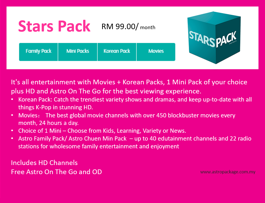 Astro Package Stars Pack Desc