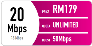 Time fibre internet promotion - 20mbps