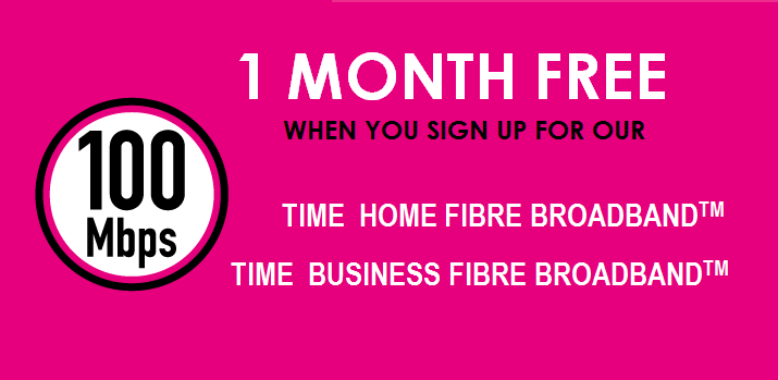 time broadband promotion