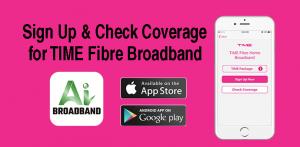 TIME fibre Broadband with AI Broadband App