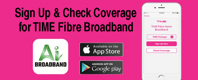 TIME fibre Broadband with AI Broadband App
