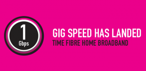 time fibre goes 1gbps